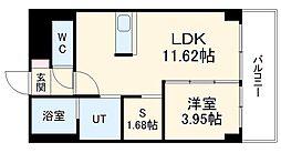 あさひグランレジデンシア高崎I 2階1SLDKの間取り
