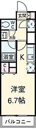 東急田園都市線 駒沢大学駅 徒歩2分の賃貸マンション 2階1Kの間取り