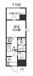 福岡市地下鉄七隈線 別府駅 徒歩18分の賃貸マンション 4階1Kの間取り