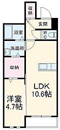 JR埼京線 武蔵浦和駅 徒歩20分の賃貸マンション 2階1LDKの間取り