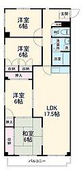 JR東海道本線 豊橋駅 バス20分 国立病院前下車 徒歩2分の賃貸マンション 1階4LDKの間取り
