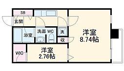 北大阪急行電鉄 桃山台駅 徒歩13分の賃貸マンション 3階1Kの間取り