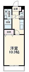 高松琴平電気鉄道志度線 潟元駅 徒歩8分の賃貸アパート 1階1Kの間取り