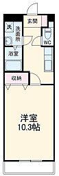 高松琴平電気鉄道志度線 潟元駅 徒歩8分の賃貸アパート ワンルームの間取り