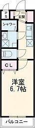 京成本線 京成高砂駅 徒歩4分の賃貸マンション 4階1Kの間取り
