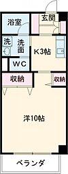 JR中央線 三鷹駅 バス12分 新川通り下車 徒歩3分の賃貸マンション 1階1Kの間取り
