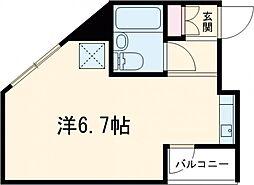 ES‐V 1階ワンルームの間取り