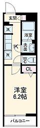 京成本線 八千代台駅 徒歩6分の賃貸マンション 3階1Kの間取り