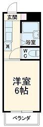 JR東海道本線 岐阜駅 バス35分 粟野口下車 徒歩10分の賃貸マンション 2階1Kの間取り
