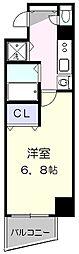 プレサンス覚王山D−StyleII 2階1Kの間取り