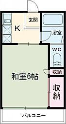 京王相模原線 京王永山駅 バス8分 永山高校下車 徒歩6分の賃貸マンション 1階1Kの間取り