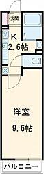 京王線 聖蹟桜ヶ丘駅 徒歩10分の賃貸マンション 1階1Kの間取り