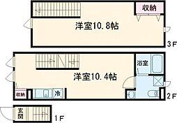 東急田園都市線 桜新町駅 徒歩12分の賃貸アパート 1階1LDKの間取り