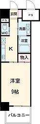 名古屋市営桜通線 高岳駅 徒歩2分の賃貸マンション 3階1Kの間取り
