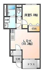 St.Field横濱泉 1階1LDKの間取り