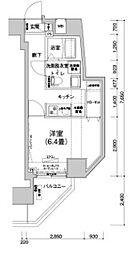JR山手線 駒込駅 徒歩7分の賃貸マンション 7階1Kの間取り