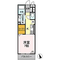 愛知環状鉄道 大門駅 徒歩26分の賃貸アパート 2階1Kの間取り