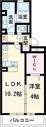 愛知環状鉄道 愛環梅坪駅 徒歩6分の賃貸アパート 2階1LDKの間取り
