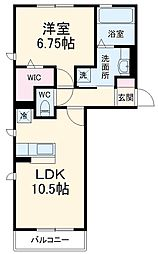 Droom-B 3階1LDKの間取り