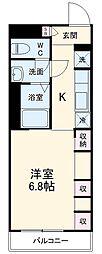 JR成田線 成田駅 徒歩14分の賃貸アパート 3階1Kの間取り