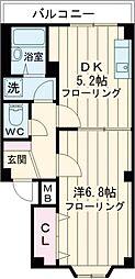 東急田園都市線 桜新町駅 徒歩8分の賃貸マンション 1階1DKの間取り