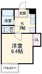 東武伊勢崎線 新伊勢崎駅 4.3kmの賃貸アパート 1階1Kの間取り
