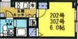 NOZOMIOPREMIER蒲田 3階1Kの間取り