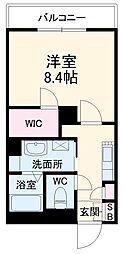 JR東海道本線 岡崎駅 徒歩30分の賃貸アパート 1階1Kの間取り