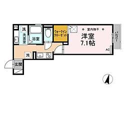 JR東海道本線 静岡駅 徒歩12分の賃貸アパート 1階1Kの間取り