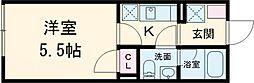 東急田園都市線 三軒茶屋駅 徒歩8分の賃貸マンション 1階1Kの間取り