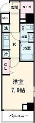 GENOVIA荻窪skygarden 5階1Kの間取り