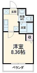 JR山陰本線 二条駅 徒歩17分の賃貸マンション 1階1Kの間取り