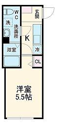 横浜市営地下鉄ブルーライン 弘明寺駅 徒歩5分の賃貸アパート 1階1Kの間取り