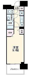 名古屋市営東山線 高畑駅 徒歩3分の賃貸マンション 9階1Kの間取り