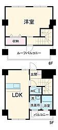 リラス吉塚通り 5階1LDKの間取り