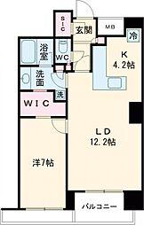 JR山手線 五反田駅 徒歩6分の賃貸マンション 13階1LDKの間取り