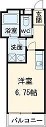 セロヴィーア大和田 2階ワンルームの間取り
