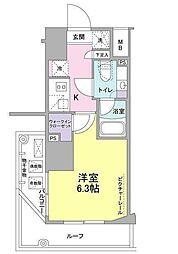 SIL西五反田 11階1Kの間取り