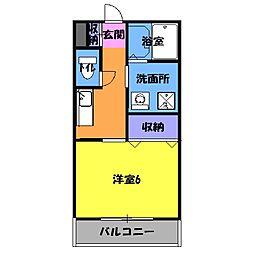 名鉄豊田線 梅坪駅 徒歩8分の賃貸アパート 2階1Kの間取り