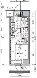 JR山手線 五反田駅 徒歩10分の賃貸マンション 9階1Kの間取り