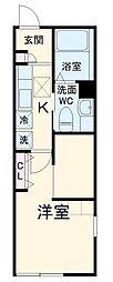 JR京浜東北・根岸線 大宮駅 徒歩9分の賃貸アパート 1階1SKの間取り