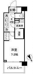 JR京浜東北・根岸線 赤羽駅 徒歩18分の賃貸マンション 6階1Kの間取り