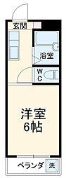 JR東海道本線 岐阜駅 バス35分 三田洞下車 徒歩7分の賃貸マンション 2階1Kの間取り