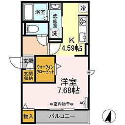 仮)-room松鴻町C棟 3階ワンルームの間取り