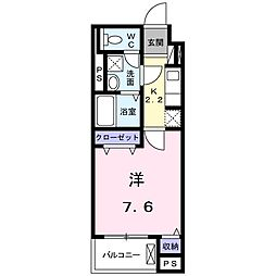 名鉄豊田線 浄水駅 徒歩13分の賃貸マンション 3階1Kの間取り