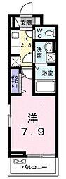 つくばエクスプレス つくば駅 バス31分 さくらの森下車 徒歩10分の賃貸アパート 3階1Kの間取り