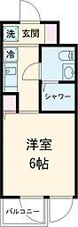 PASEO下北沢 3階1Kの間取り