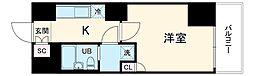 京急本線 京急鶴見駅 徒歩2分の賃貸マンション 2階1Kの間取り