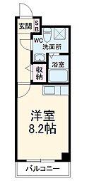 プラスコート西豊川 1階1Kの間取り