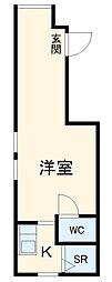 Maisorie浄心 3階ワンルームの間取り